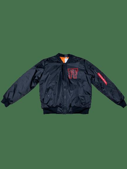 Image of Fairfield I❤️U Black/Red/White Bomber Jacket