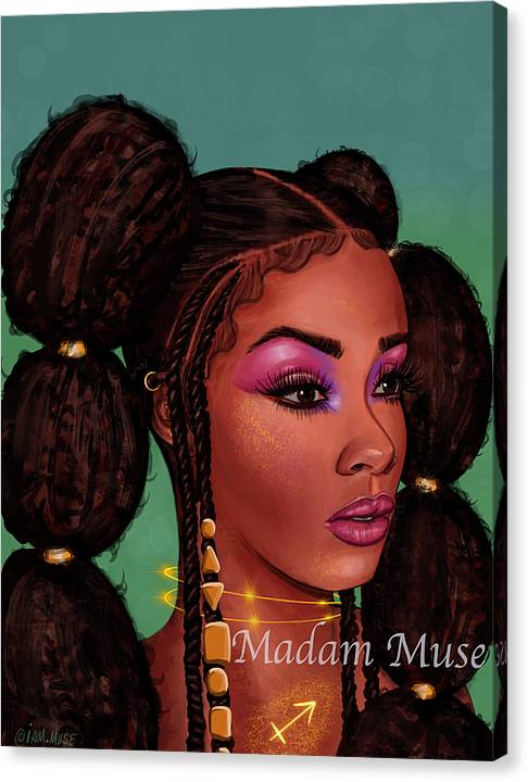 "Image of ""Queen Sagittarius"" Limited Edition Canvas Prints"