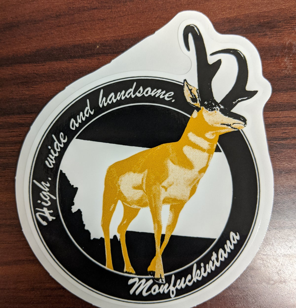 Image of New: High, Wide and Handsome Pronghorn Sticker