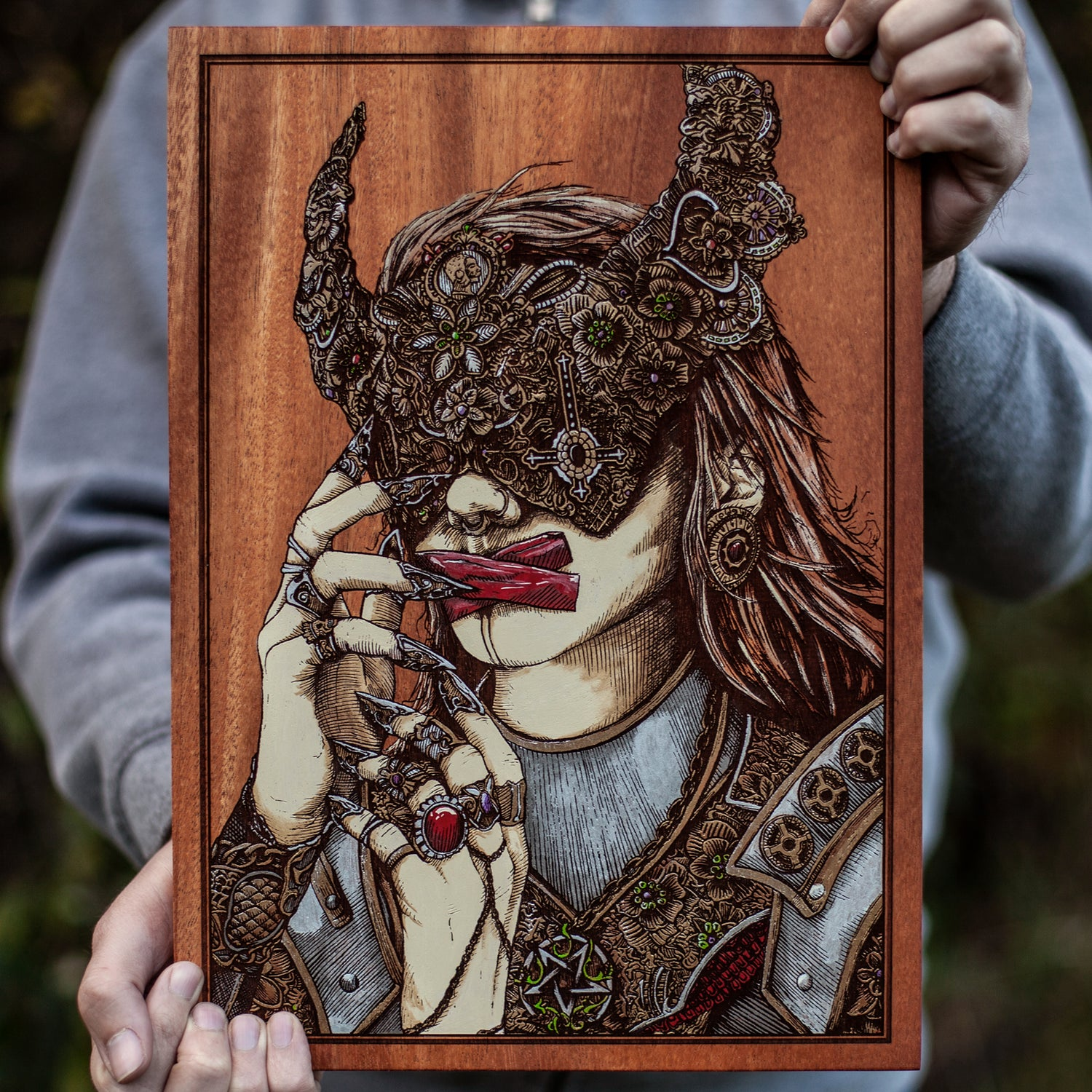 Image of Lady of Corruption Engraved Paintings