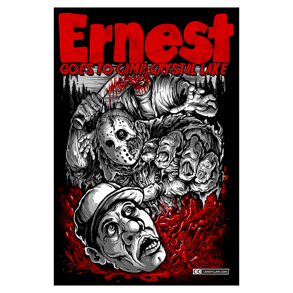 Ernest Goes to Camp Crystal Lake (Poster) V2
