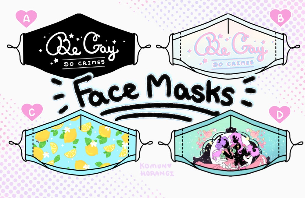 Image of FaceMasks - comes with 2 filters - adjustable straps
