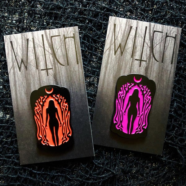 Image of WITCH Enamel Pin - NEW VARIANTS