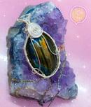 Image 1 of rainbow labradorite necklace