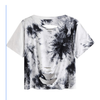 Women's Casual Short Sleeve T Shirts Distressed Ripped Crop Top (Pre-Order)