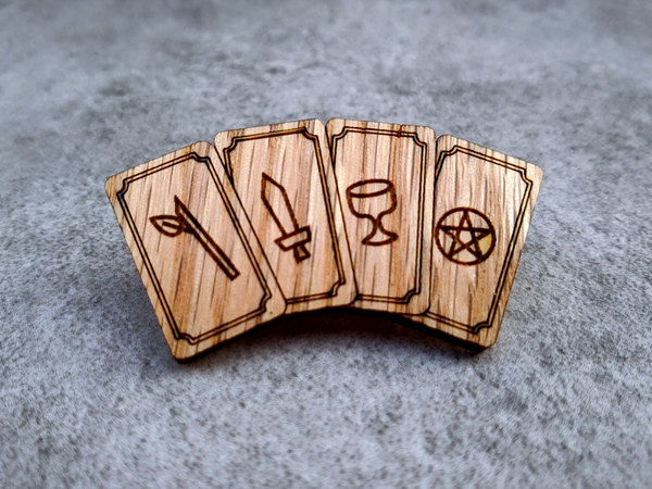 Image of Minor Arcana Red Oak Tarot Pin