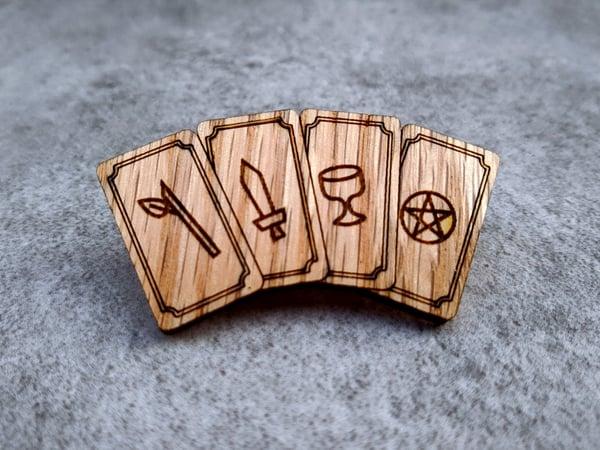 Image of Minor Arcana Red Oak Tarot Pin