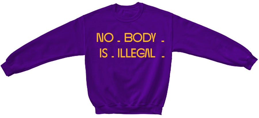 Image of NBII ~ PURPLE & BOLD CHAMPIONSHIP CREW NECK SWEATER