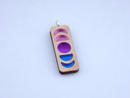 Image 1 of Bisexual Pride Moon Phase Necklace