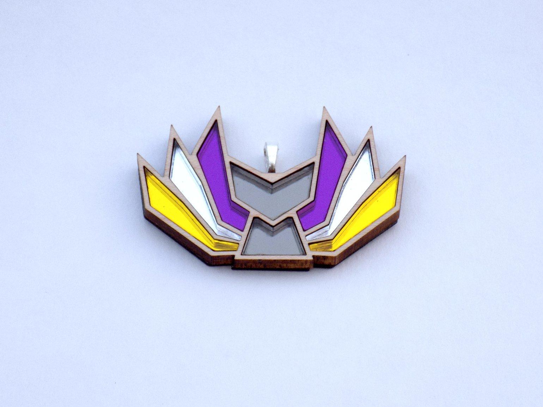 Image of Nonbinary Pride Kitsune Necklace
