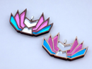 Image 1 of Trans Pride Kitsune Necklace