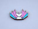 Image 2 of Trans Pride Kitsune Necklace
