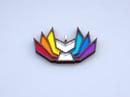 Image 3 of Rainbow Pride Kitsune Necklace