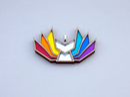 Image 2 of Rainbow Pride Kitsune Necklace