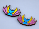 Image 1 of Pansexual Pride Kitsune Necklace