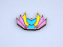 Image 2 of Pansexual Pride Kitsune Necklace