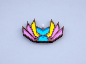 Pansexual Pride Kitsune Necklace