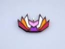 Image 2 of Lesbian Pride Kitsune Necklace