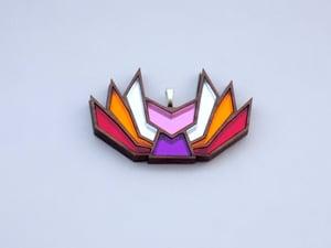 Lesbian Pride Kitsune Necklace