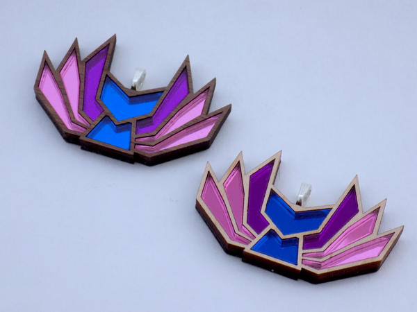 Image of Bisexual Pride Kitsune Necklace