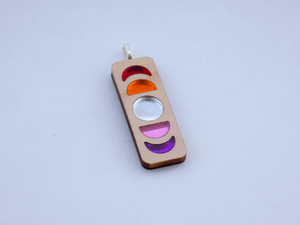 Lesbian Pride Moon Phase Necklace