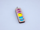 Image 2 of Pansexual Pride Moon Phase Necklace