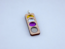 Image 1 of Nonbinary Pride Moon Phase Necklace