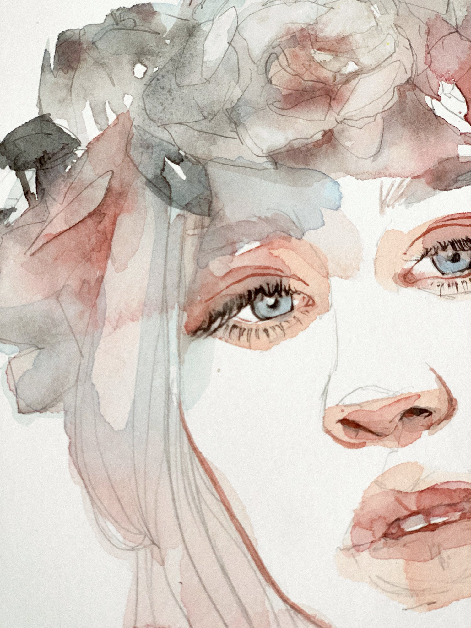 Agnes-Cecile pink flowers