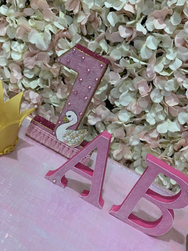 Image of 8inch Glitter inititials/letters