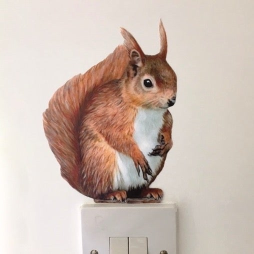 Image of Red the Squirrel ~ Wall sticker decal