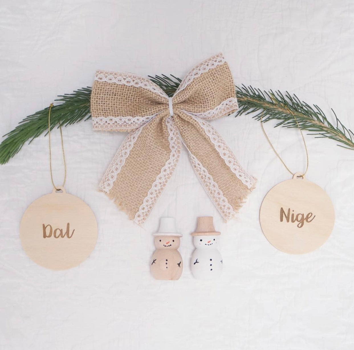 Image of Christmas Tree Personalised Christmas Baubles