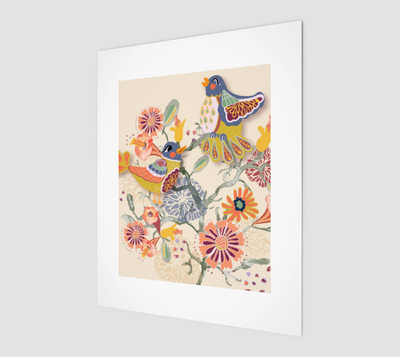 Image of Birds and Blooms Print