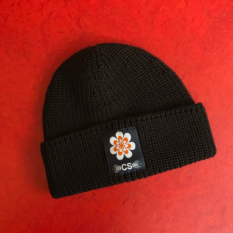 Image of COLLECTIVE SWALLOW BEANIE BLACK