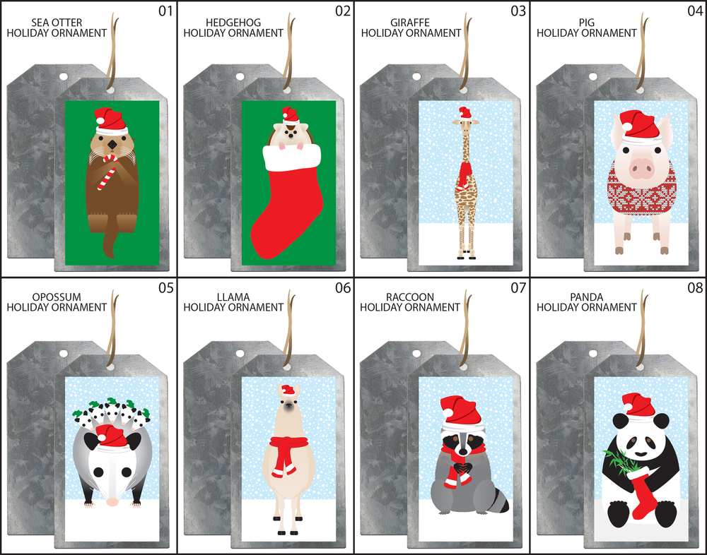 SIMPLY ANIMALS HOLIDAY ORNAMENTS