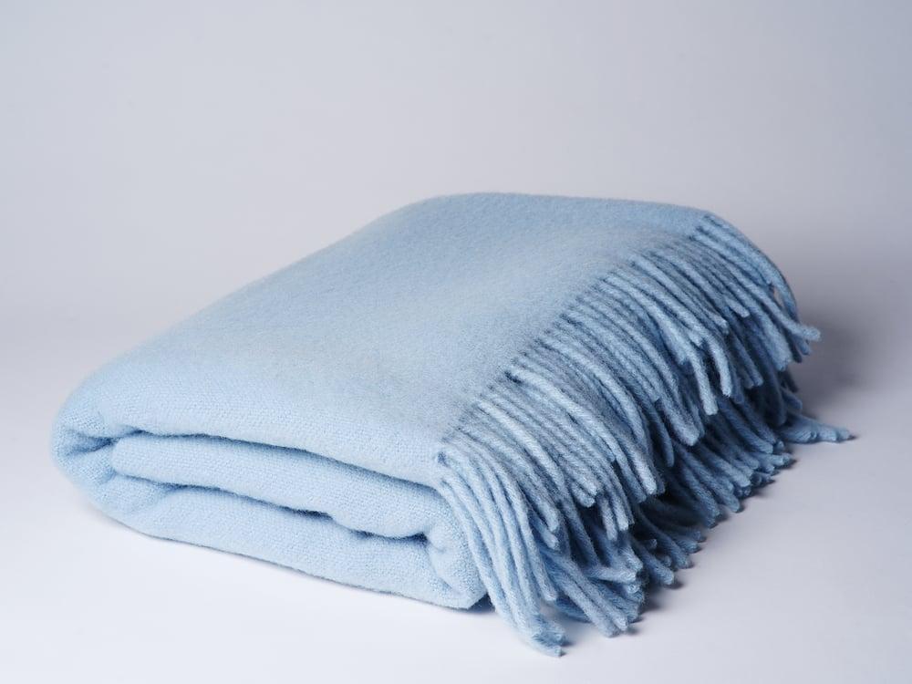 Image of Wolldecke hellblau
