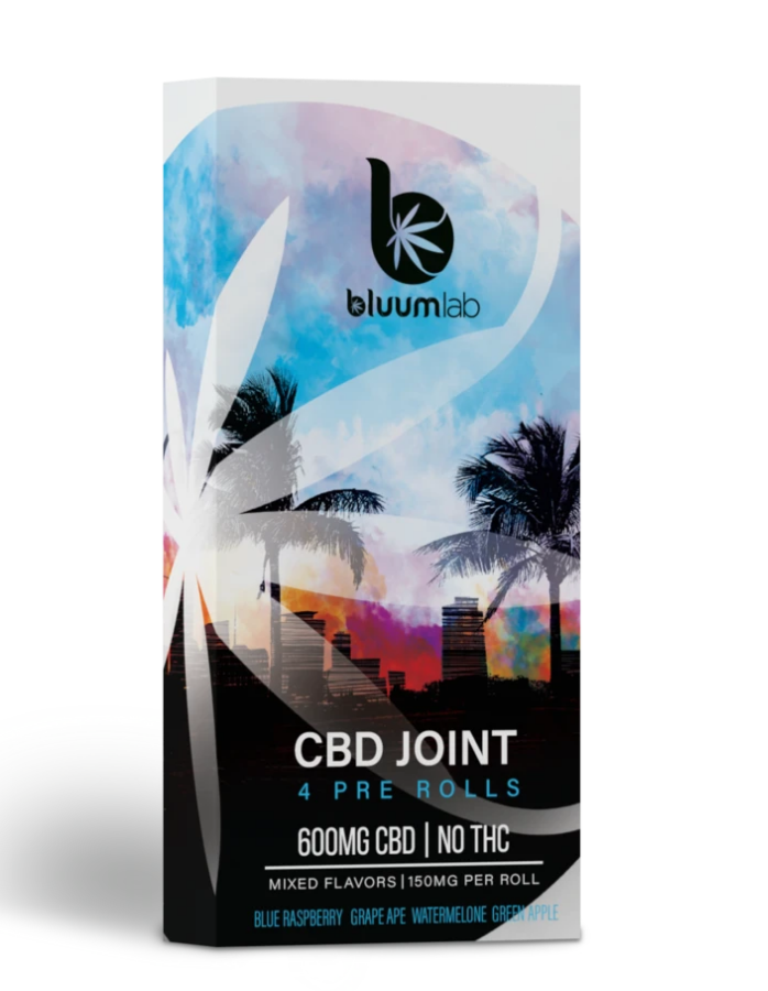 CBD 600mg Pre Rolls Joint - 4 Pack (A)