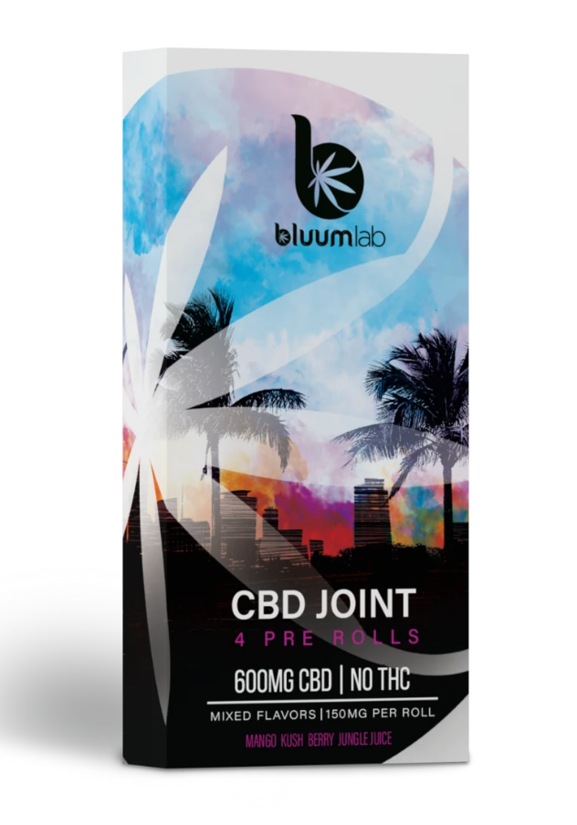 CBD 600mg Pre Rolls Joint - 4 Pack (B)