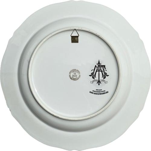 Image of Screaming - Vintage Porcelain Plate - Collage - #0734
