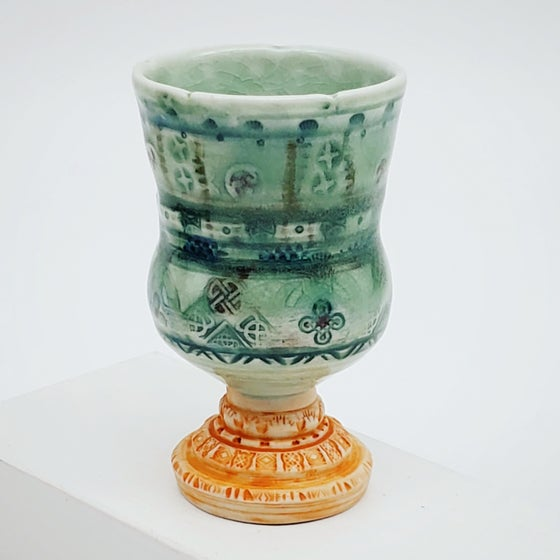 Image of Meadow Green Celtic Porcelain Chalice
