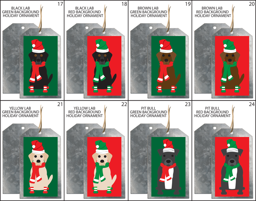 SIMPLY DOGS HOLIDAY ORNAMENTS