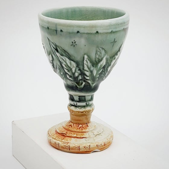 Image of Small Carved Leaf Serenity Chalice