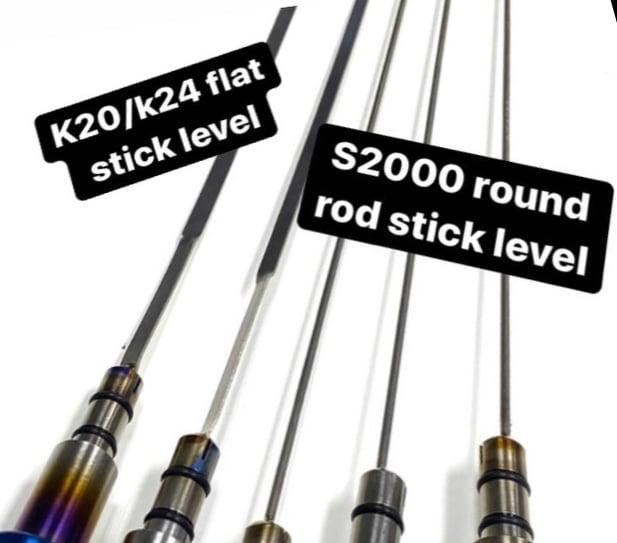 Image of Titanium oil dip stick for Honda