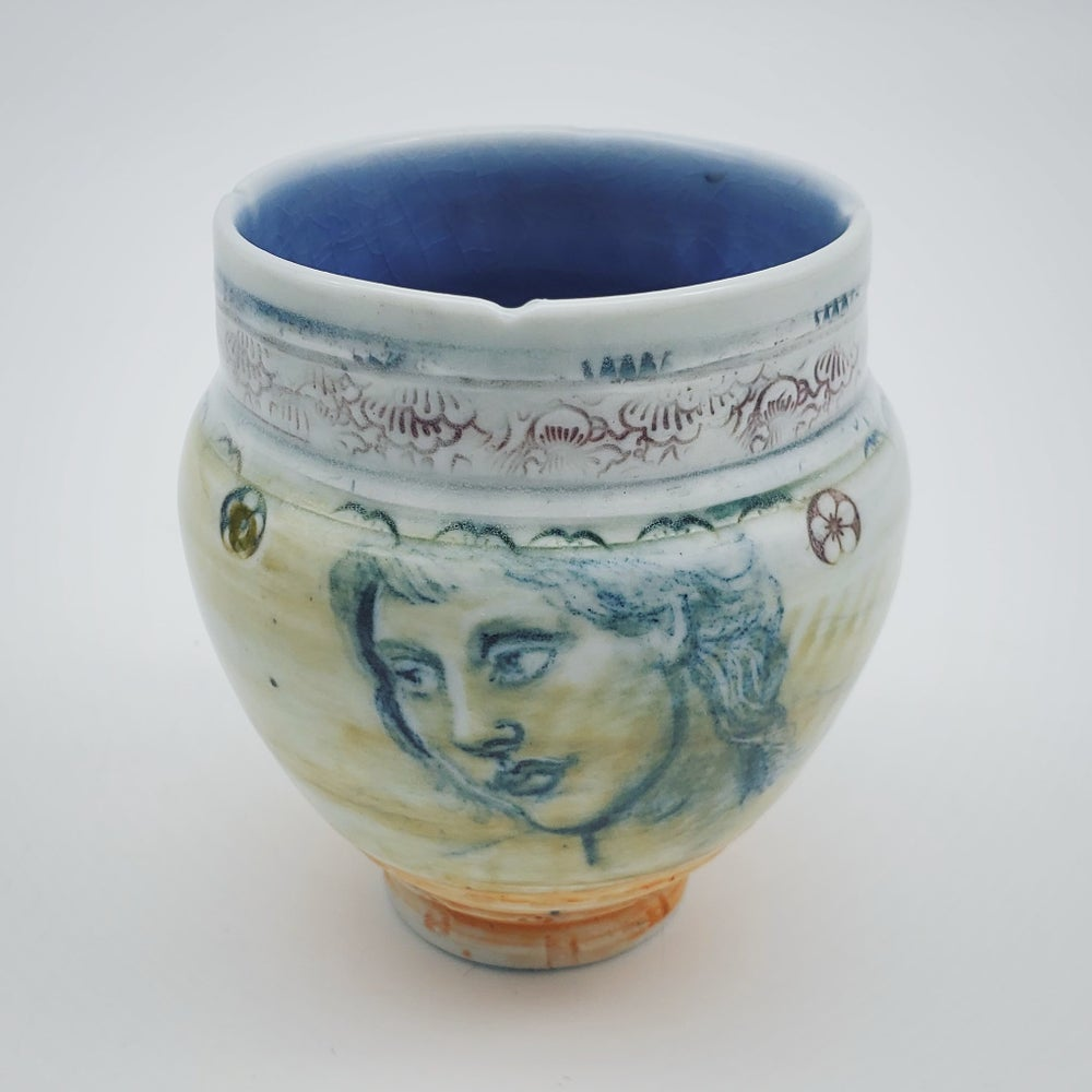 Image of Umbria Portrait Porcelain Vase