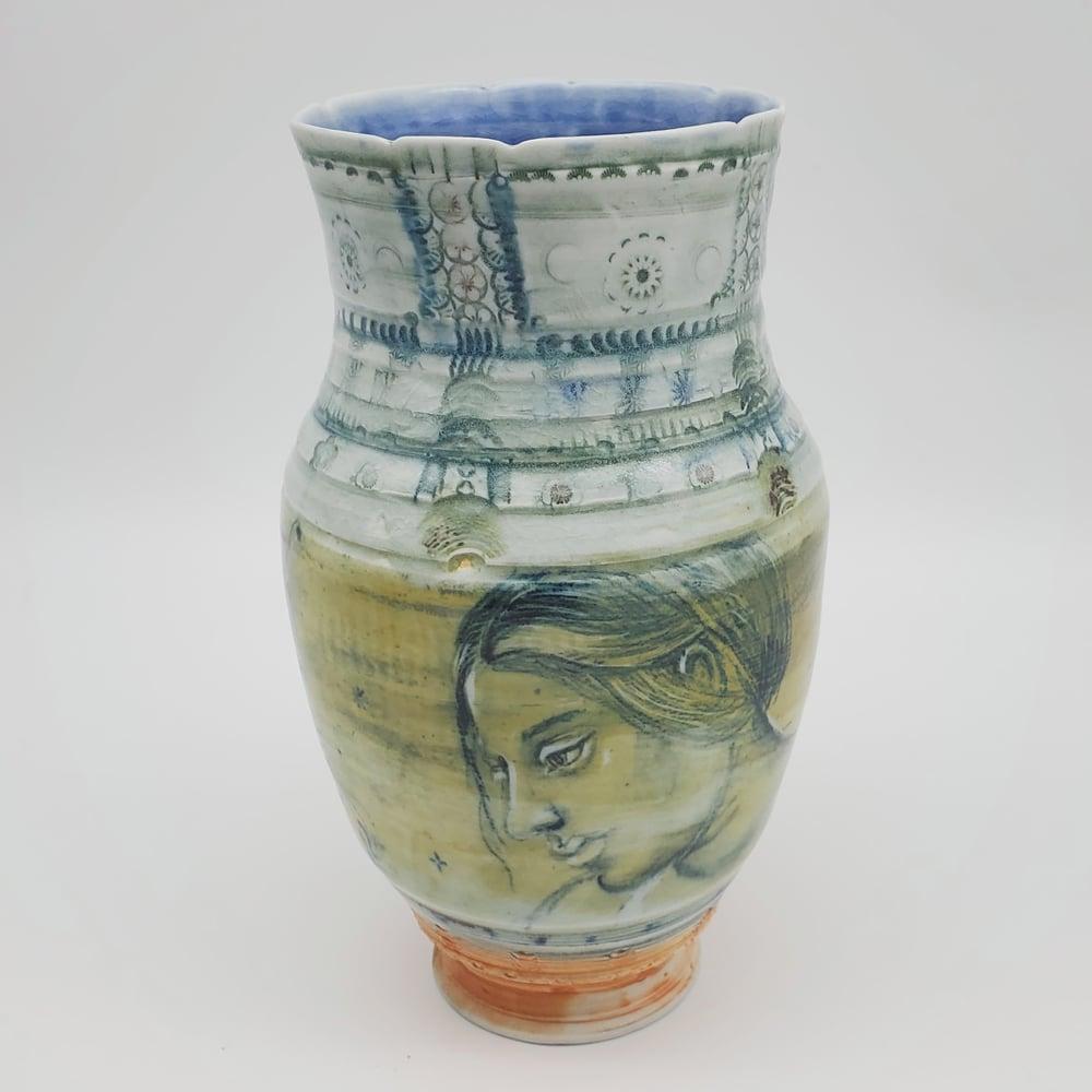 Image of Delft Afternoon  Portrait Vase
