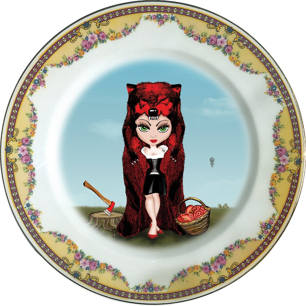 Image of Rubricapula  - Little Red Riding Hood Porcelain plate - #0381