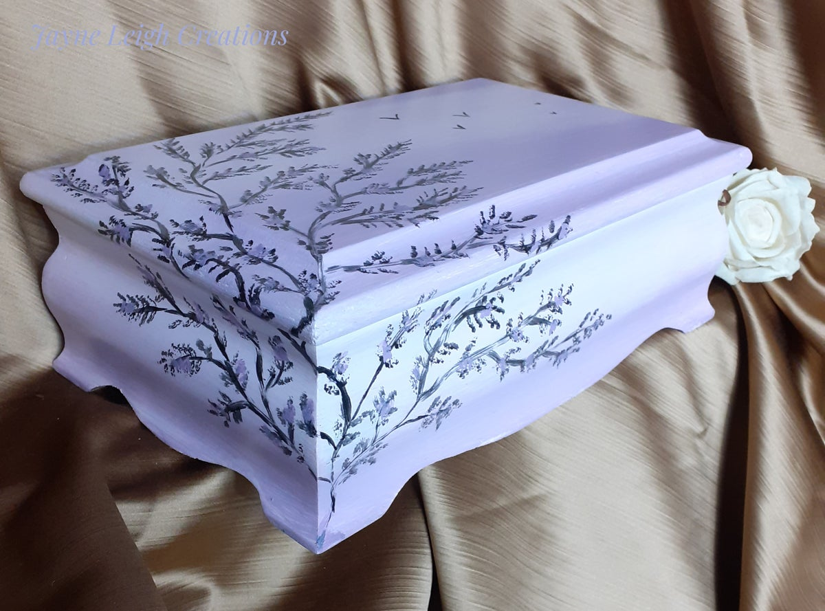 Image of Lilac Birds Jewellery Chest