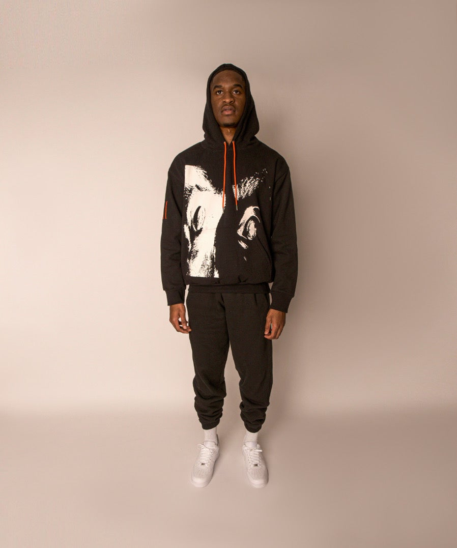 Image of DRD SCREAM HOODIE BLACK