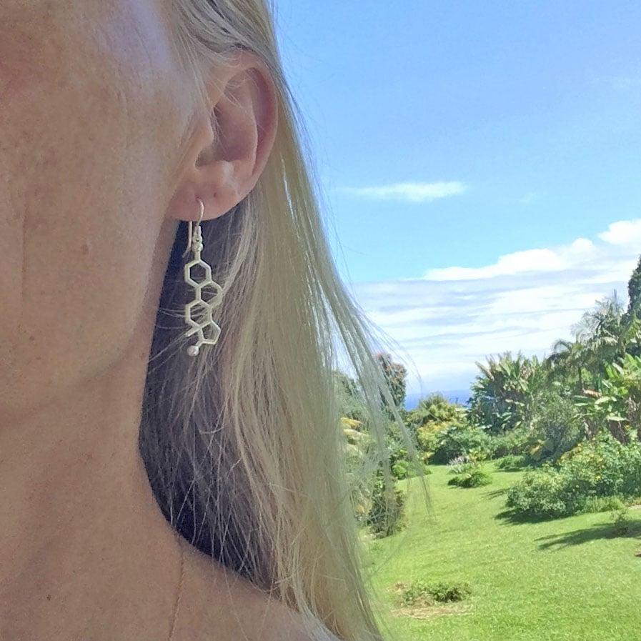 Image of estrogen progesterone earrings