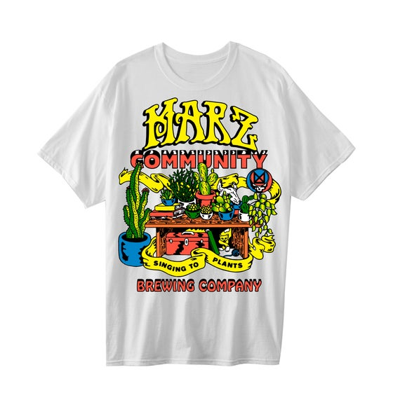 Image of Singing to Plants T Shirt ( White)