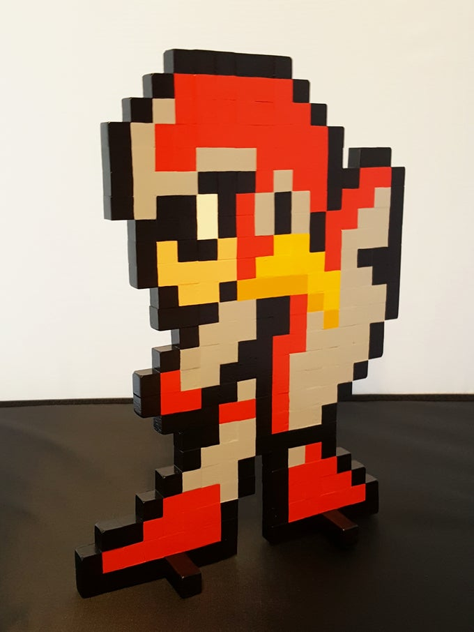 "Image of Mega Man 10 - Proto Man Wooden Sprite Standee - 12"" x 8.5"""